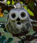 felted owl birdhouse